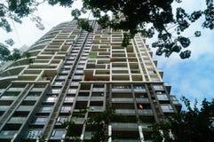 L'aspect architectural des bâtiments résidentiels images libres de droits