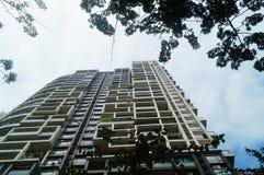 L'aspect architectural des bâtiments résidentiels photographie stock