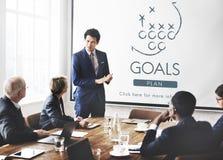 L'aspiration de but de buts croient le concept de cible d'inspiration images libres de droits