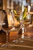 L'assaggio di vino Fotografie Stock Libere da Diritti