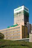 L'asse funzionale della miniera di carbone ha nominato Darkov con una torre di estrazione mineraria immagine stock