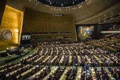 L'Assemblée générale des Nations Unies à New York Photos libres de droits