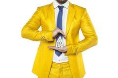 L'assicurazione proteggerà la vostra casa dalle spese inattese Fotografia Stock