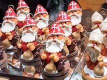 L'assortimento di Santa Claus ha modellato i dolci del cioccolato Fotografie Stock