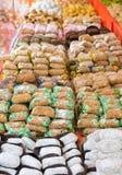 L'assortimento siciliano di Cannoli/Cannoli siciliani/è il più tradizionale di tutti i dolciumi siciliani Originalmente prepari immagini stock libere da diritti