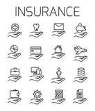 L'assurance a rapporté l'ensemble d'icône de vecteur illustration de vecteur
