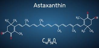 L'astaxantina è un cheto-carotenoide Appartiene a classe di chemica Fotografia Stock