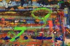 L'astrazione dal caos di pittura macchia sul bordo Fotografia Stock