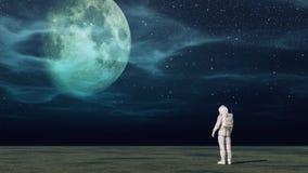 L'astronauta Immagine Stock