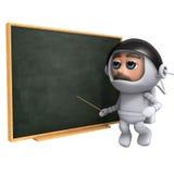 l'astronauta 3d insegna a Fotografia Stock Libera da Diritti
