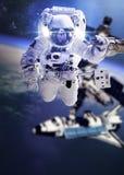 L'astronauta nello spazio Fotografia Stock