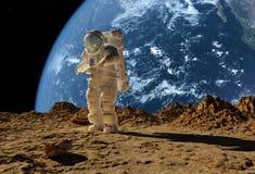 L'astronaute illustration de vecteur