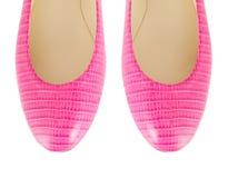 L'astuce des chaussures de femme d'isolement sur le blanc Image stock