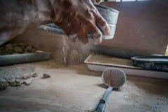 L'atelier Curaçao de poterie regarde photo stock