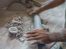 L'atelier Curaçao de poterie regarde image stock