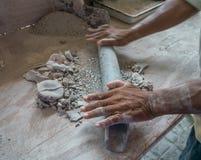 L'atelier Curaçao de poterie regarde photos stock