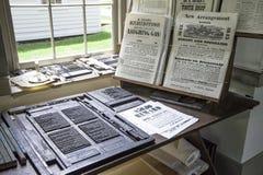 L'atelier d'impression au musée des agriculteurs Images libres de droits