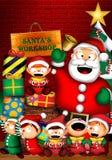L'atelier de Santa Image stock