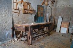 L'atelier du charpentier Photos libres de droits