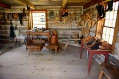 L'atelier du cordonnier Photos stock
