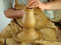 L'atelier du potier. La Bulgarie 2008 Photo stock