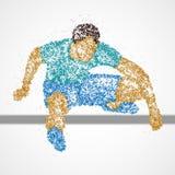 L'athlète abstrait sautent illustration stock