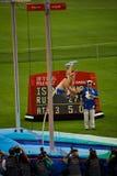 L'athlète russe casse le record mondial Image stock