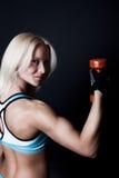 L'athlète sexy pose photos stock
