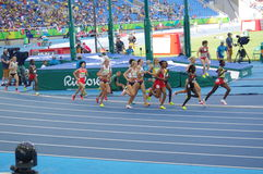 L'athlétisme 5000m des femmes courus Images stock