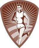 L'atleta di maratona mette in mostra il corridore Fotografia Stock