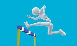 L'atleta salta un ostacolo Fotografia Stock