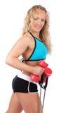 L'atleta sexy è durante l'addestramento immagine stock