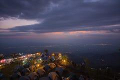 L'atmosfera del buek del thap di Phu prima dell'alba, questo posto è popolare Fotografia Stock Libera da Diritti