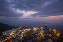 L'atmosfera del buek del thap di Phu prima dell'alba, questo posto è popolare Immagine Stock
