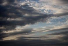 L'atmosfera il cielo è struttura alta blu dell'aria Fotografie Stock Libere da Diritti