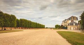L'atmosphère dans les jardins du château de la configuration d'en de St Germain Image libre de droits