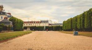 L'atmosphère dans les jardins du château de la configuration d'en de St Germain Image stock