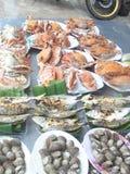 L'atmosphère de bord de la mer et les fruits de mer Photo stock