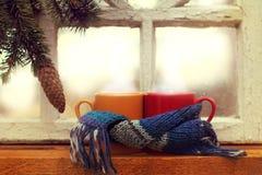 L'atmosphère de chauffage des vacances d'hiver Image libre de droits
