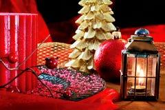 L'atmosphère de Noël avec l'éclairage Images libres de droits