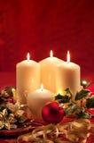 L'atmosphère de Noël - bougies images libres de droits