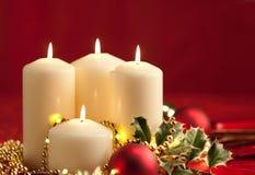 L'atmosphère de Noël - bougies image stock