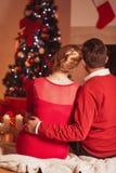 L'atmosphère magique chaude de Noël Images stock