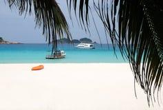L'atmosphère tranquille de plage Photo stock