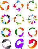 L'atome a formé par Arrows Images libres de droits