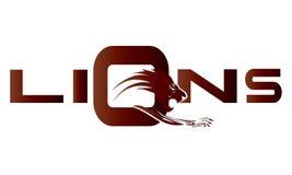 L'attaque du lion illustration de vecteur