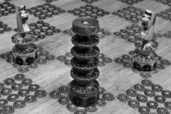 L'attaque sur les tours dans les échecs Image stock