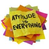 L'atteggiamento è tutto immagine stock