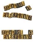 L'atteggiamento è tutto scritto tipografico Fotografia Stock