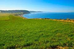 L'atterrissage d'Ebey, île de Whidbey, Washington Image stock